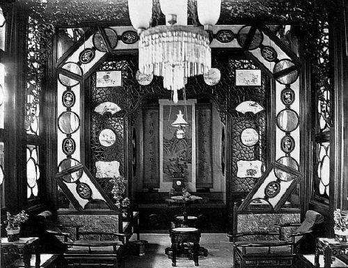Upscale opium salon, early 1900s