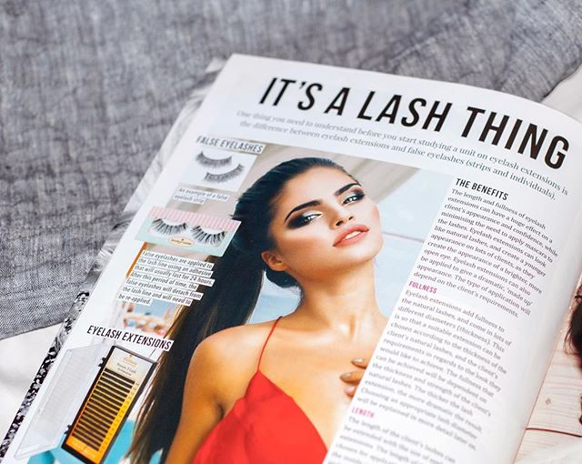Learning material magazine for beauty students who are studying SHBBMUP001 Apply eyelash extensions 💖