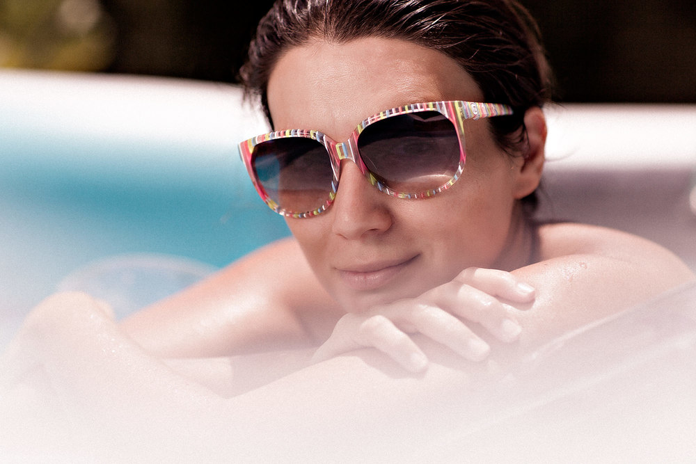 Sunglasses Portrait in Pool