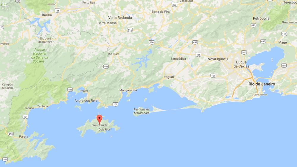 The area around Ilha Grande, Angra, Paraty and Rio de Janeiro