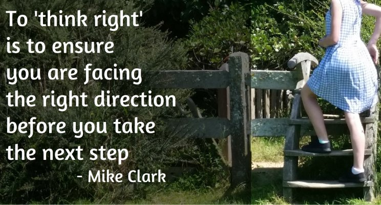 think right direction