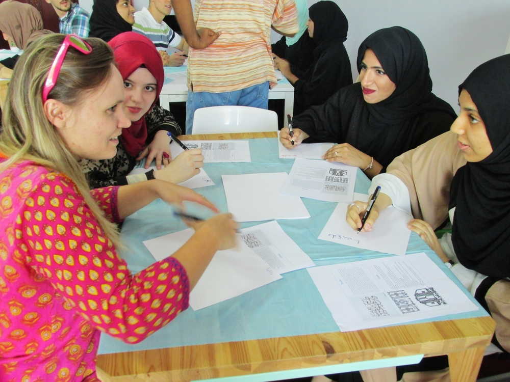 a joint project with omani students (photo: cj aragon)