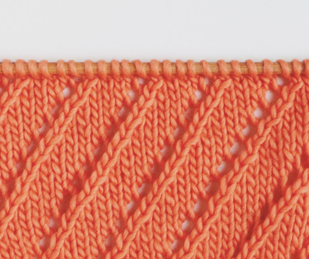 point de diagonales ajourées