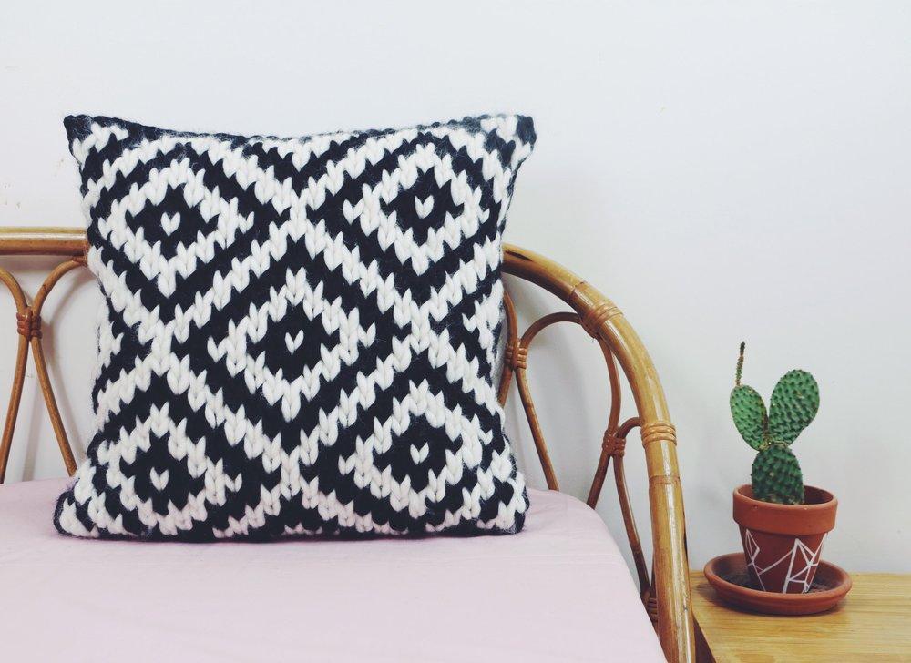 Chunky Jacquard Pillow