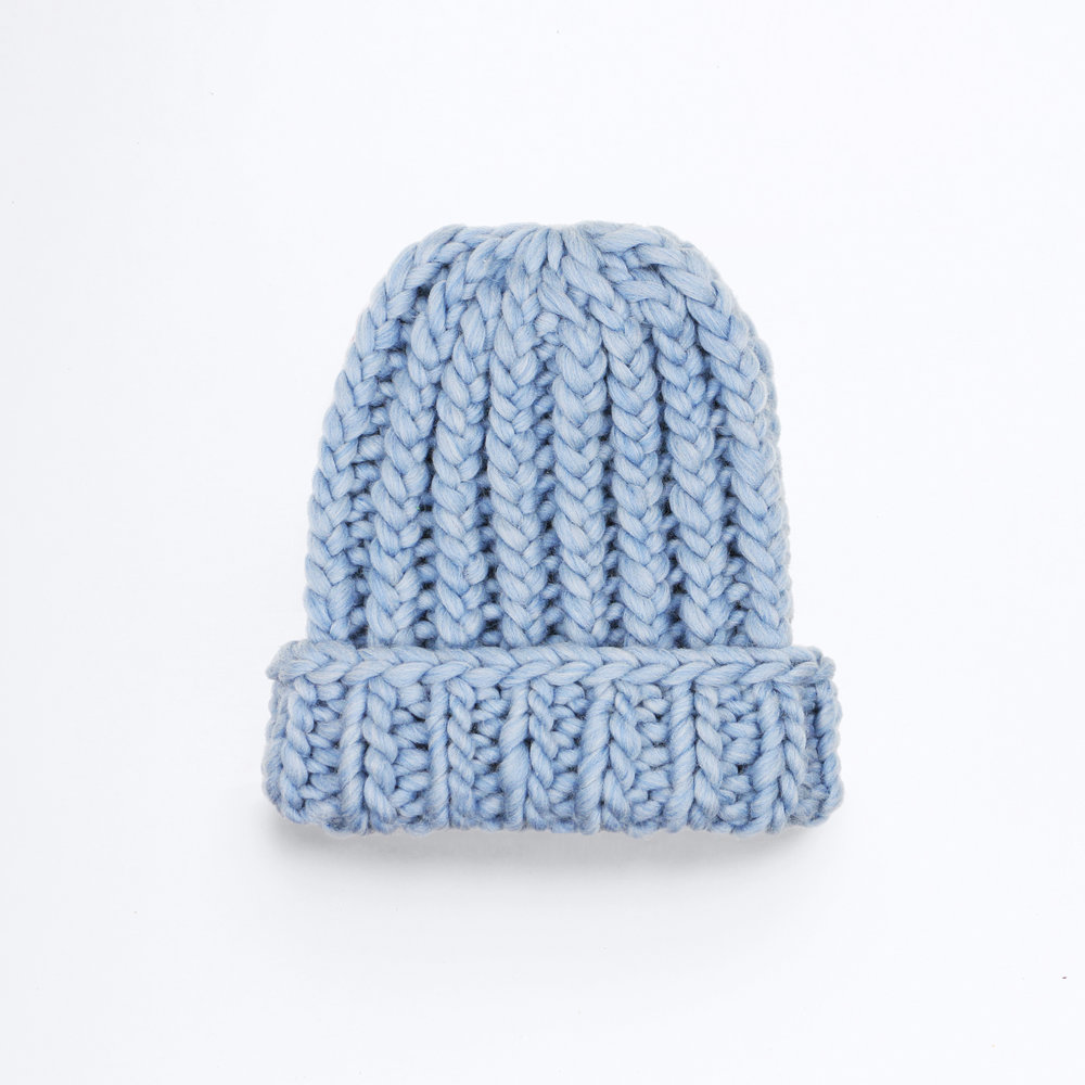 THE BIGGER THE BETTER BEANIE - Shark Blue
