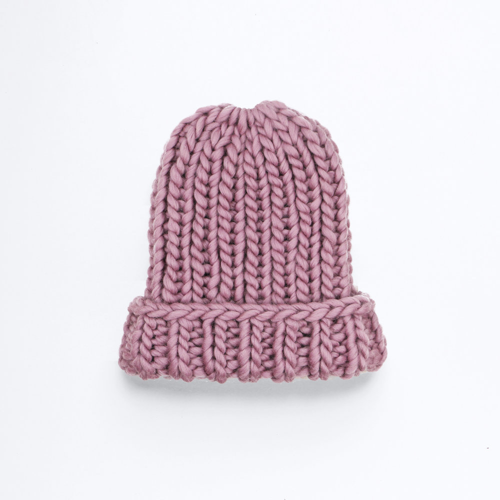 GO BIG OR GO HOME BEANIE - Plum