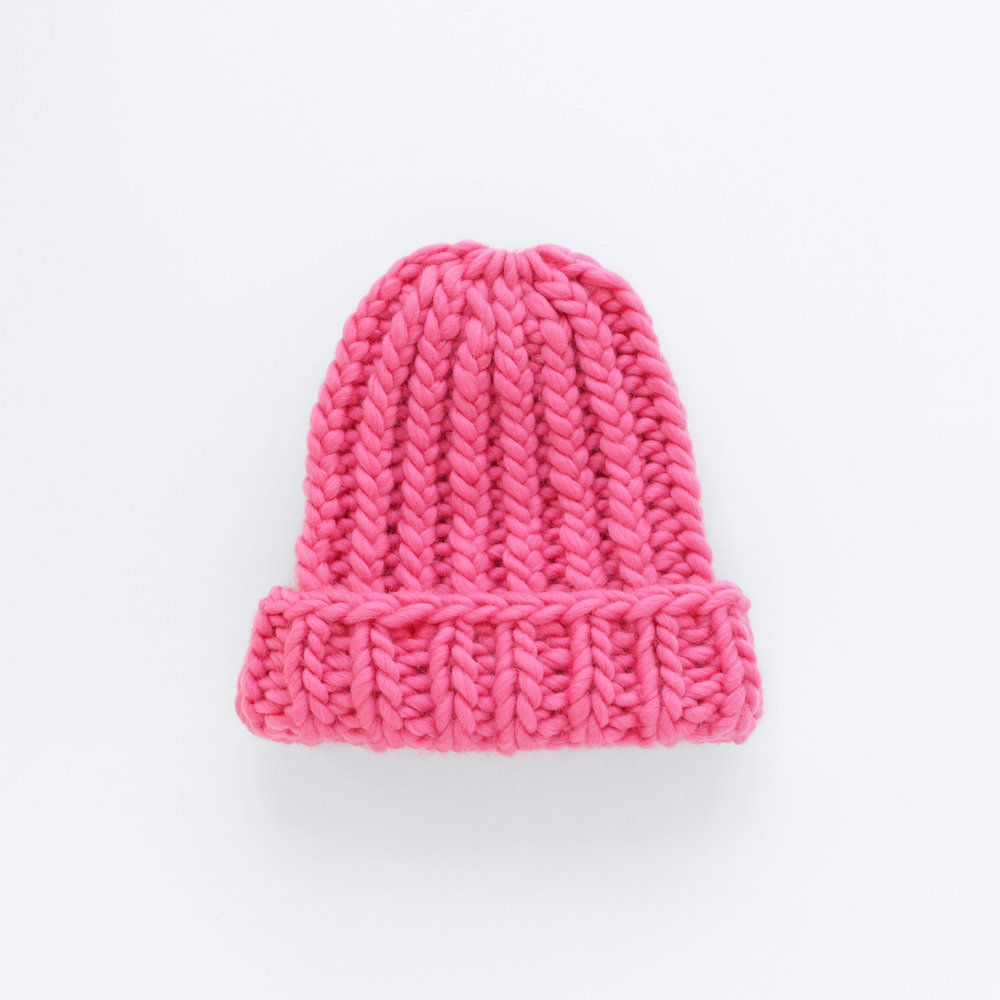THE BIGGER THE BETTER BEANIE - Pinky