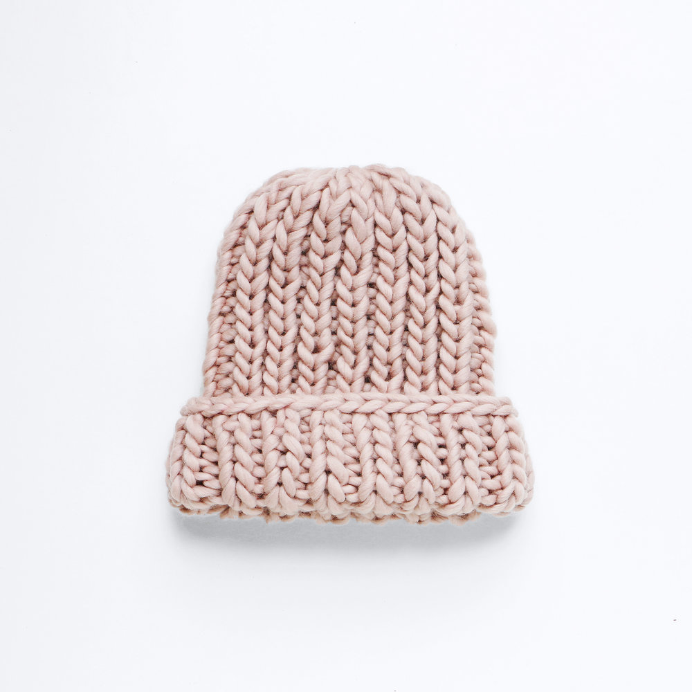 GO BIG OR GO HOME BEANIE - Sea Shell