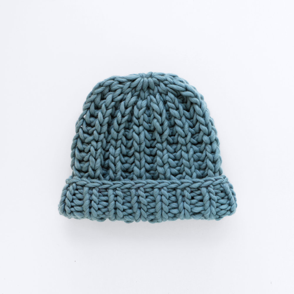 MR BIG BEANIE - Anchor grey
