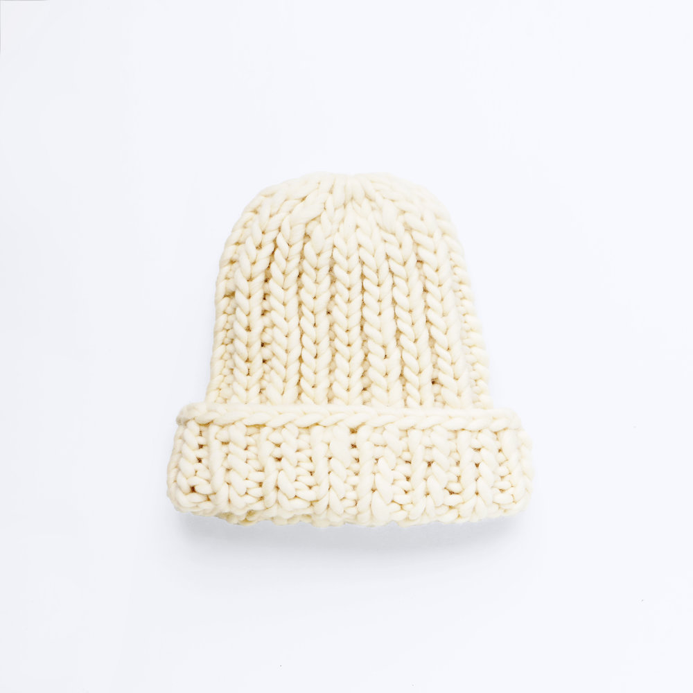 GO BIG OR GO HOME BEANIE - Ivory