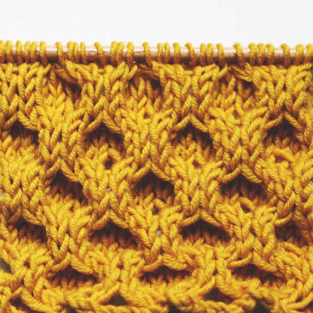 honeycomb cable stitch