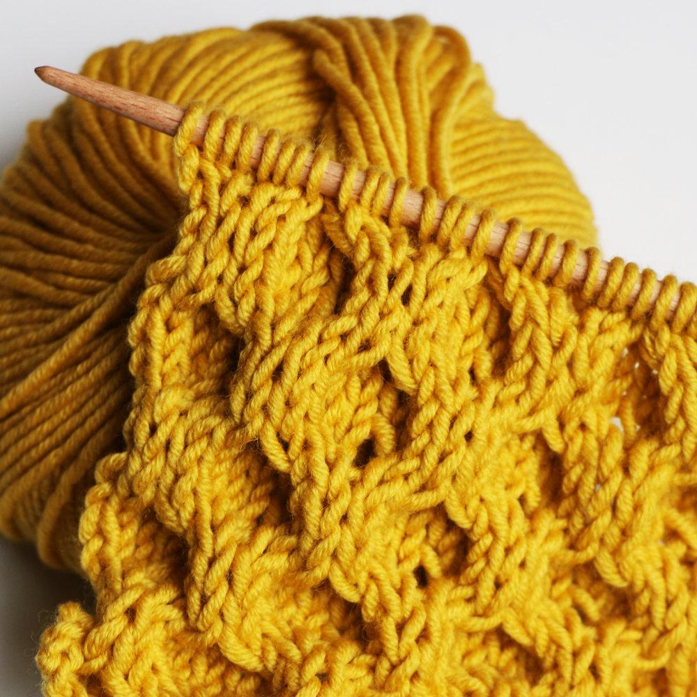 classic aran honeycomb stitch