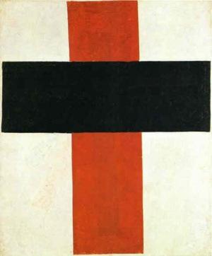 Croix rouge et noire, 1920-27, Kasimir Malevitch