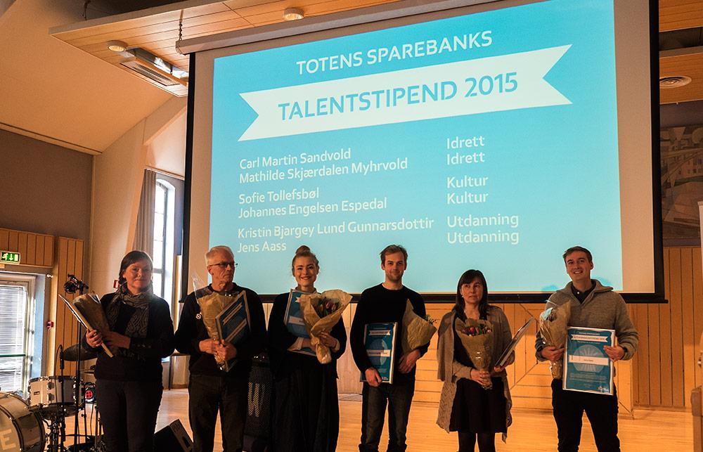Mottakere av talentstipend 2016, det er mange flinke folk i regionen vår!