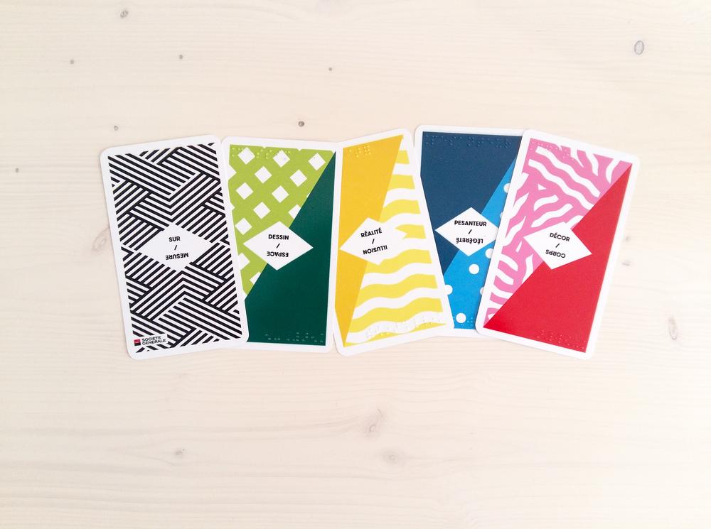 Set de cartes en braille, réaliséen collaboration avec Clémence Passot (Conception graphique)