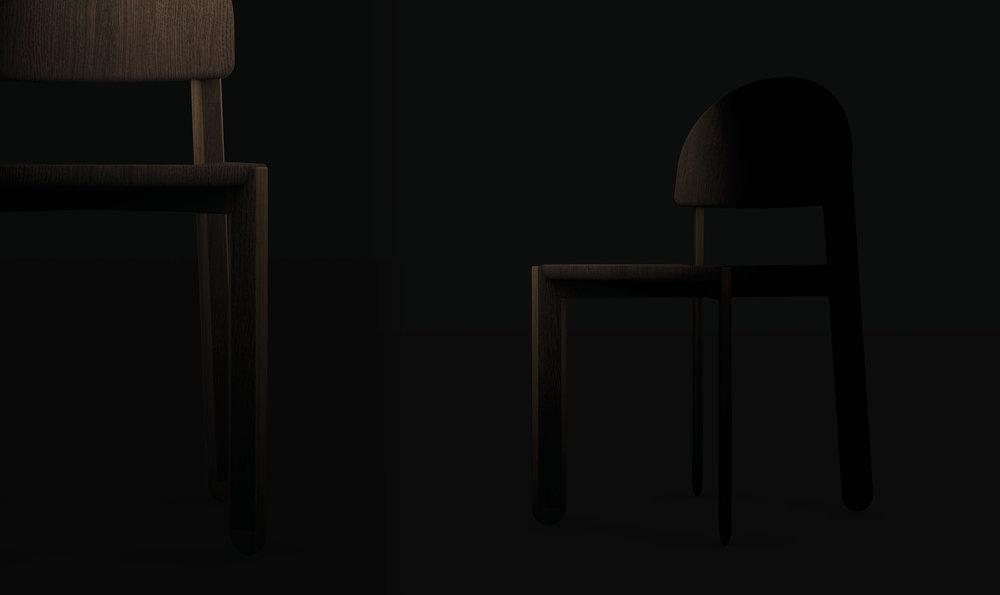 Chair. English: PADDLE CHAIR // Greenlandic: PAARLUNI QAJARTORLUNI // Danish: Pagaj