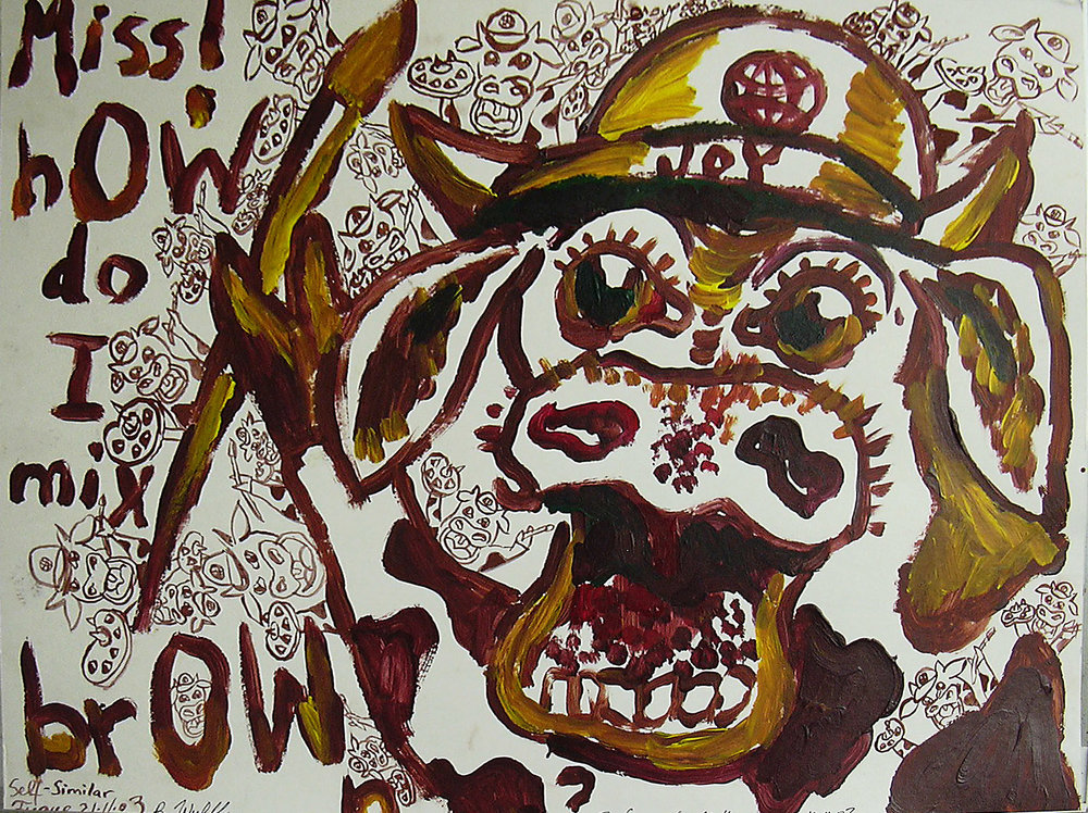 'How now? Brown Cow - The F.A.Q or the Art room'