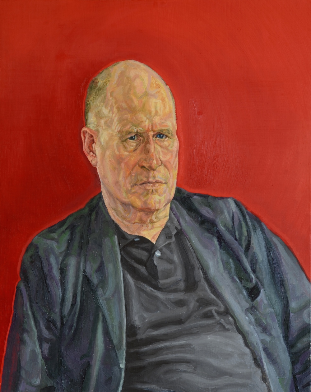 Portrait painted by Charlie Schaffer
