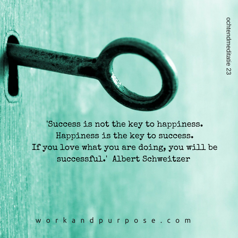 'Success is not the key to happiness. Happiness is the key to success. If you love what you are doing, you will be successful.' Albert Schweitzer.png