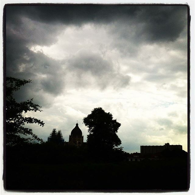 Old Town & Clouds #clouds #oldtown #thenetherlands #blackandwhite #maastricht