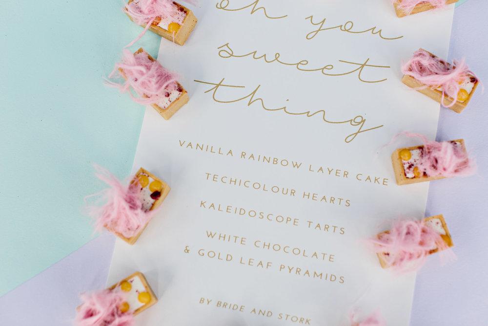 Luxe Dessert Menu | Wedding Photography by Kas Richards
