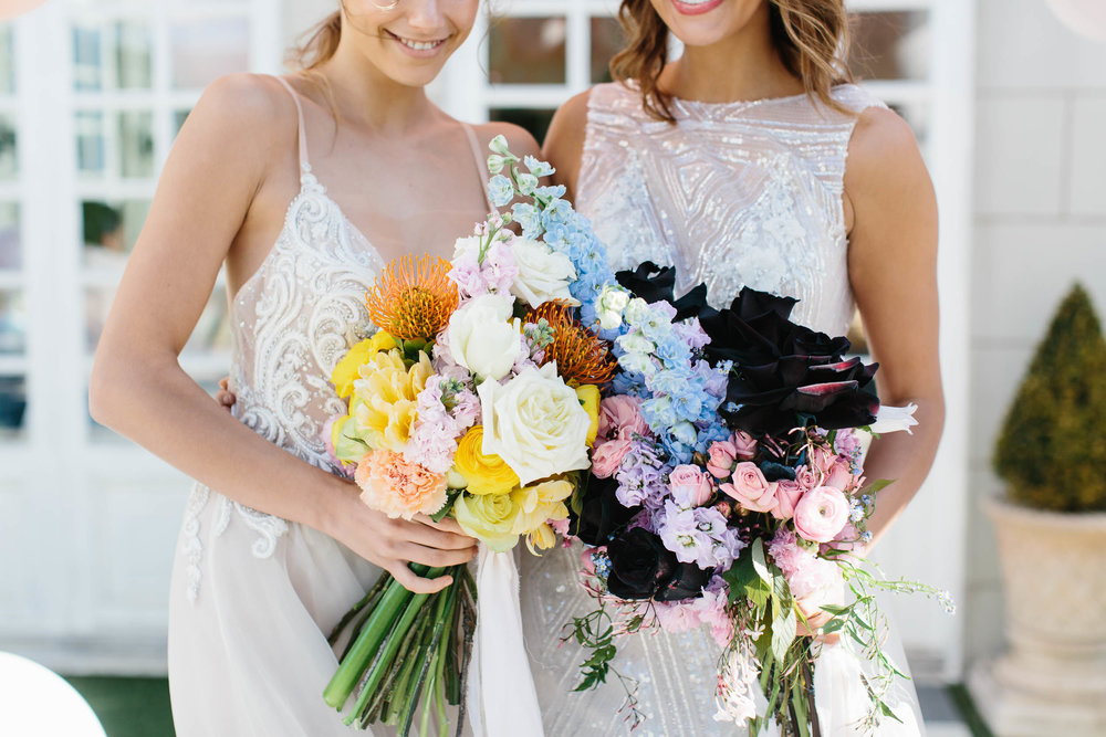 Pastel Bouquets Same Sex Wedding | Wedding Photography by Kas Richards