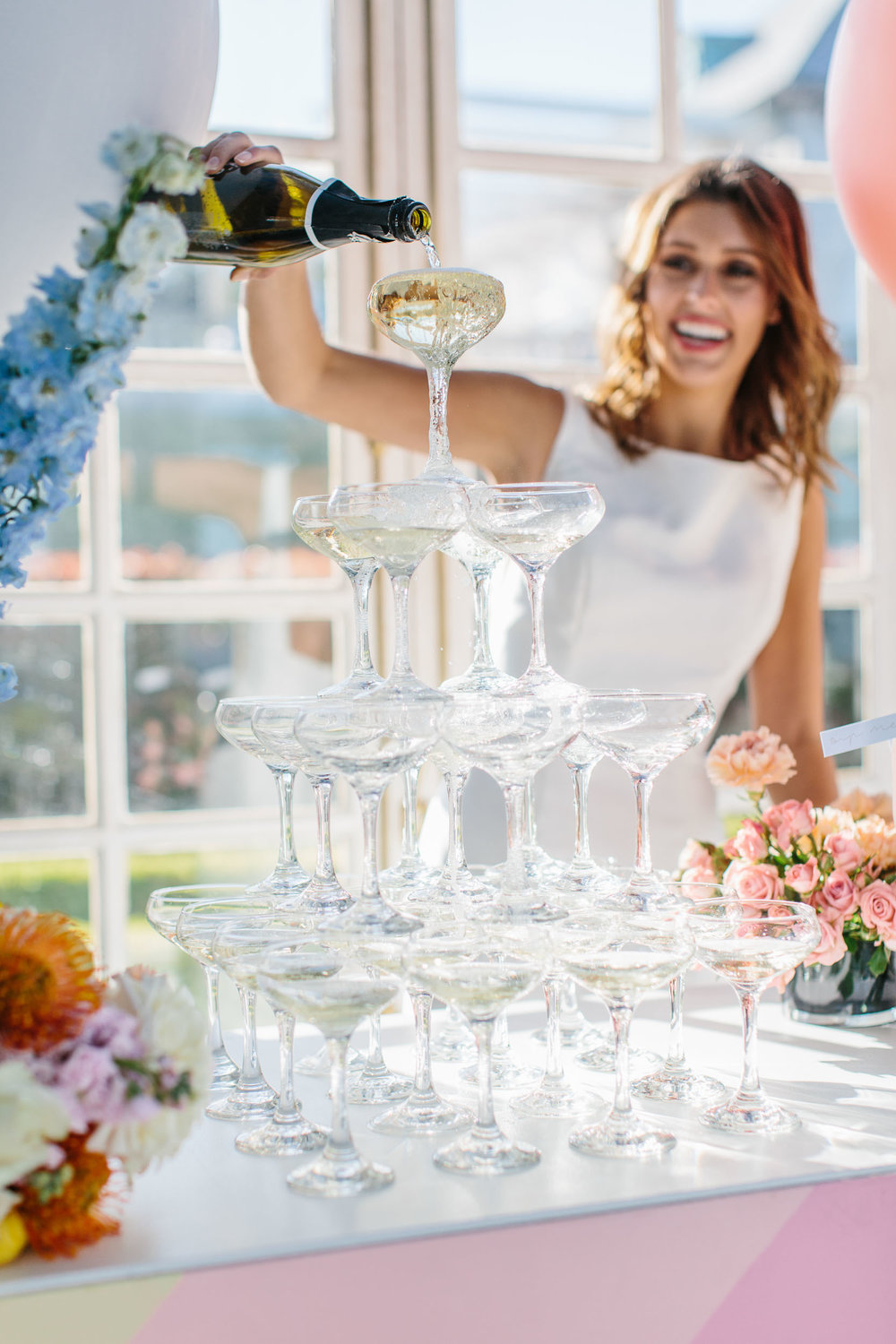 Luxe Champagne Tower | Wedding Photography by Kas Richards