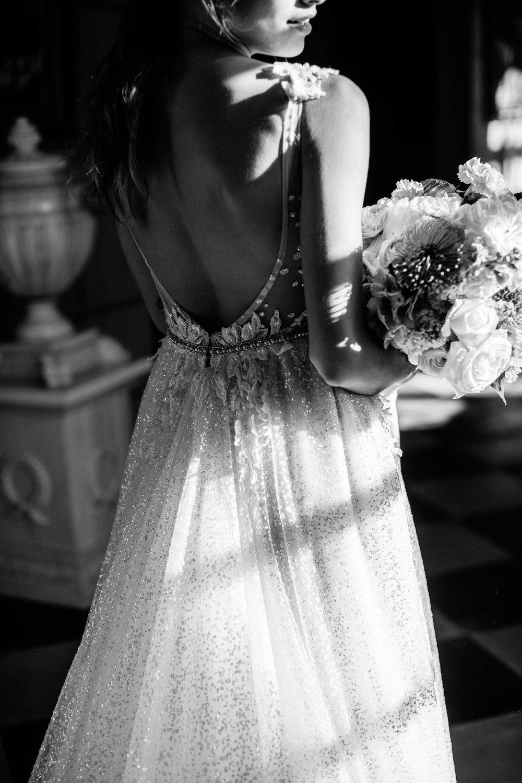 Low Back Ballgown Berta Wedding Dress | Wedding Photography by Kas Richards