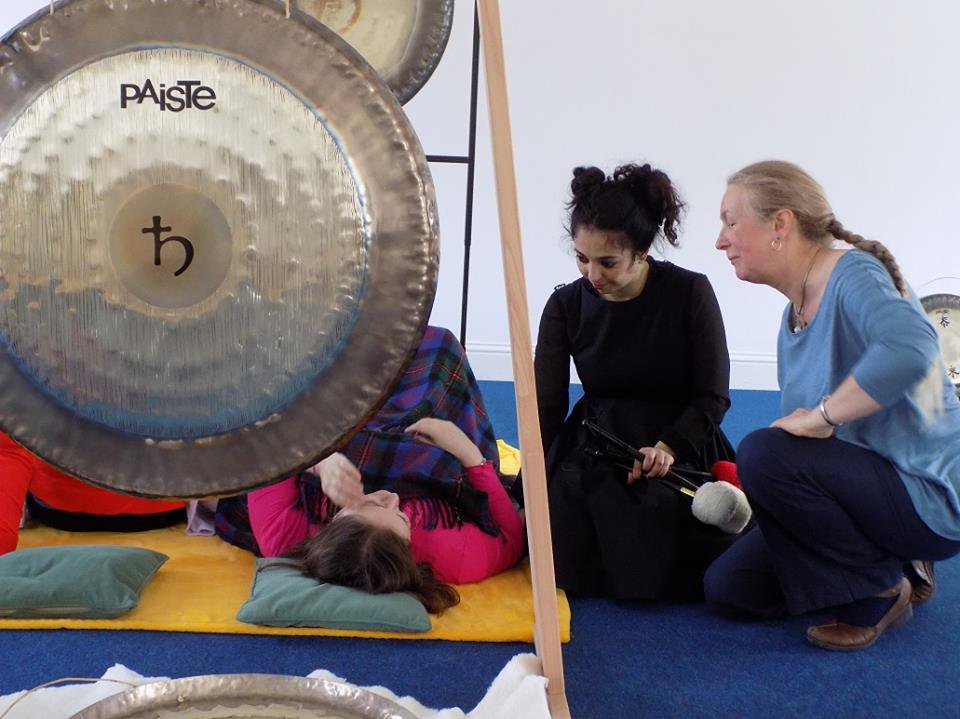 Training with Sheila Whittaker at The College of Sound `Healing, Devon, UK.