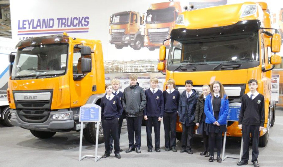 Students enjoyed a visit to Leyland trucks to find out more about the career opportunities they have