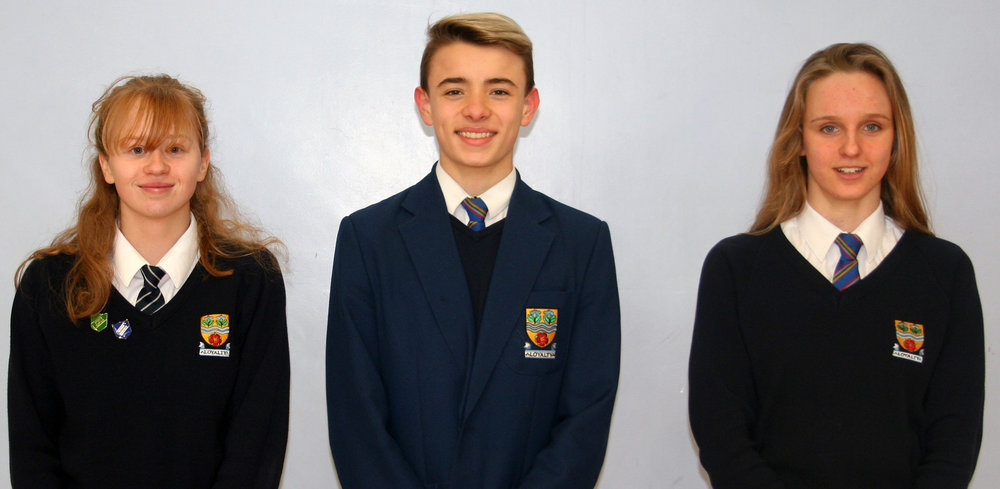 Chloe, Isaac and Elizabeth who performed superbly for their clubs in the recent inter-counties swimming competition