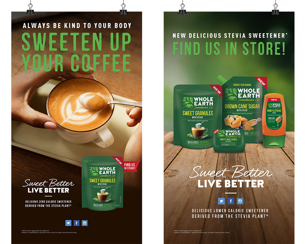 Whole Earth Sweetener Co. Out of Home Digital Banners