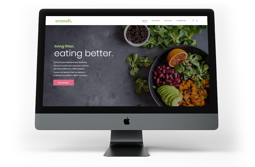 Fully responsive website design and development for Crunch