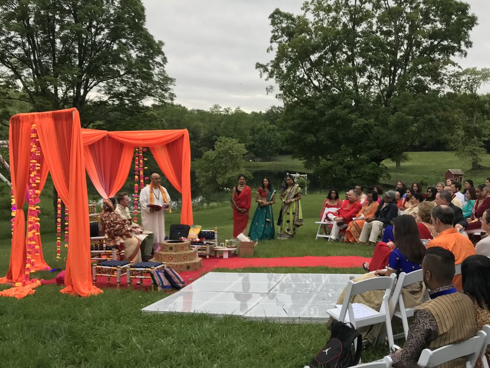 Traditional Indian wedding at the farm