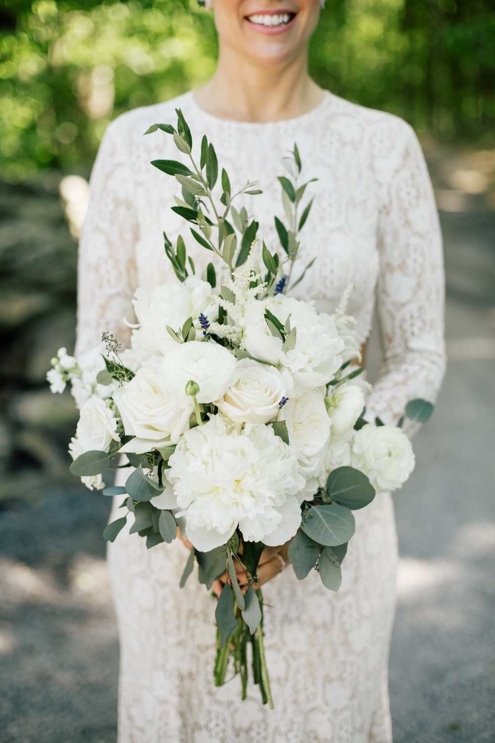 Eucalyptus and rose flower bouquet