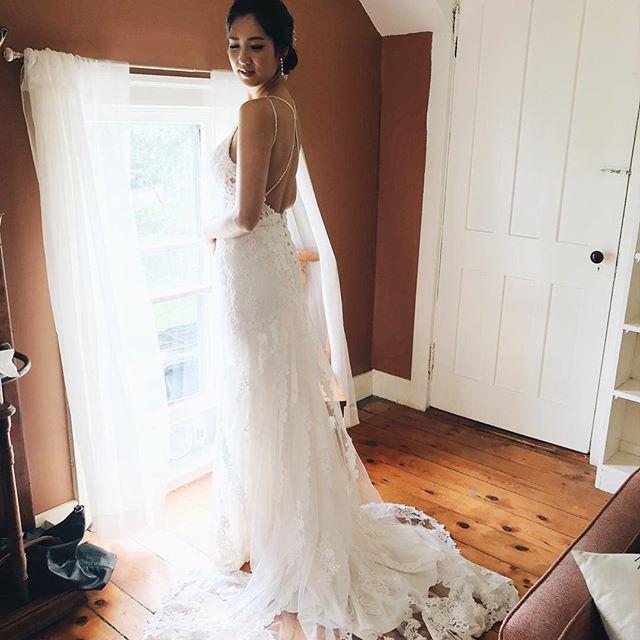 Leila in her stunning wedding dress. The seven ponds farm house has a salon for hair and makeup. #Sevenpondsfarm @loveleilajames . . . . . . . . . . . #farmwedding #farmweddings #farmweddingideas #barnwedding #barnweddings #barnweddingvenue #nyweddingvenues #weddingfun #weddingday #farmtotable #weddingdetails #100layercake #thatsdarling #marthastewartweddings #brides #bridemagazine #theknot #utterlyengaged #nyweddingguide #stylemepretty #smpweddings #upstateny #thecatskills #catskillswedding #weddingphotography #newyorkweddings #weddingfun #blenheimhillfarm #blenheimweddings @stylemepretty @brides @bridesmagazine @100layercake @theknot @martha_weddings @darling @bhldn @huffpostweddings