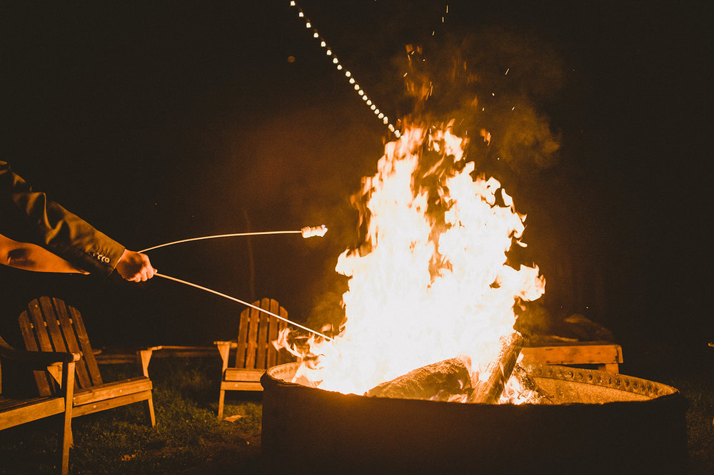 S'mores are a delightful afterparty addition