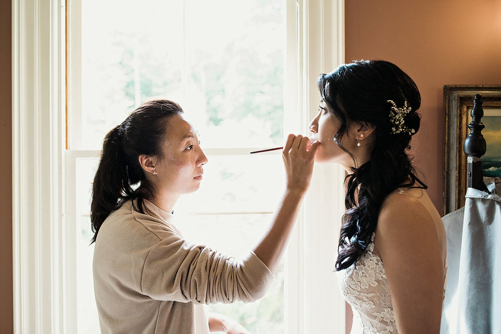 Bride gets ready in the Bride's Quarters