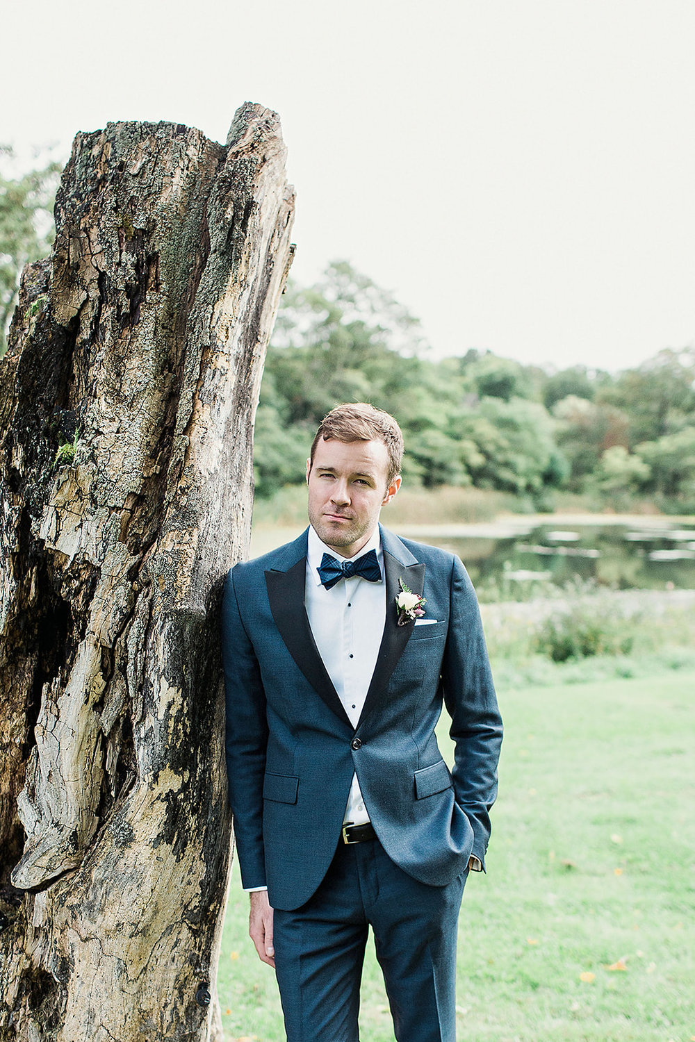 Groom relaxes