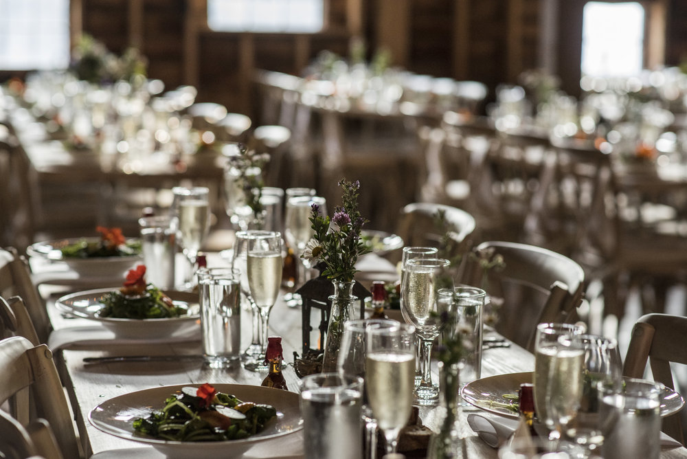 Thoughtfully designed tables and settings