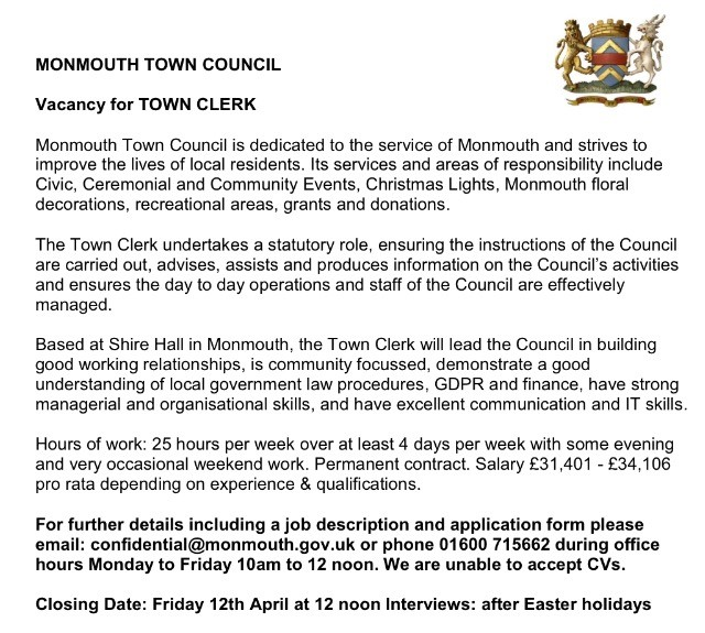 Town Clerk Job Advert.jpg