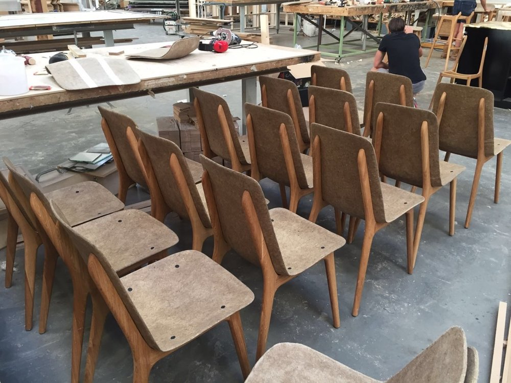 process making off linum chair