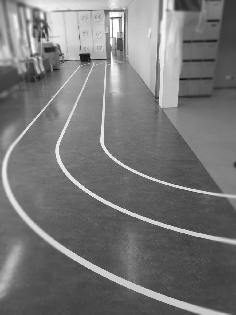 running track left
