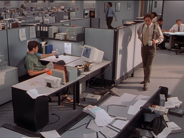 Scene from the movie Office Space