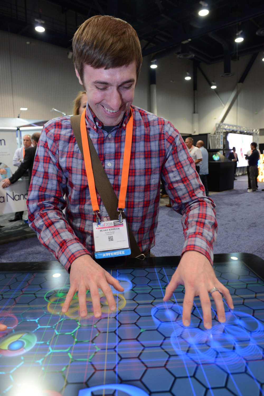 Blake Kishler representing Kolar Design at the Digital Signage Expo - 2015