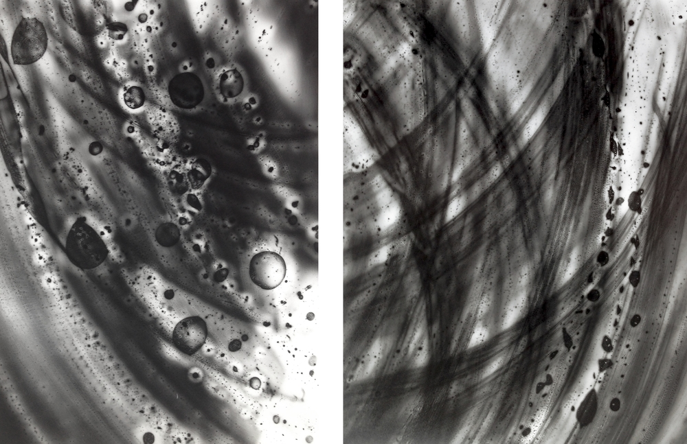 Unearthed 1 and 2, unique photogram 2015