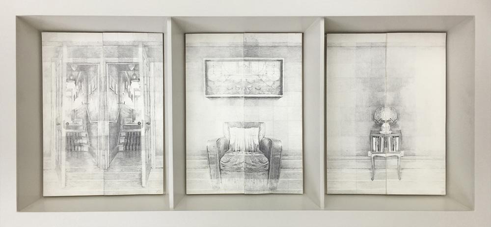 MYRIORAMA ROOM SERIES,2014,Graphite on 400gsm Velin Arches, 21 x 29cm