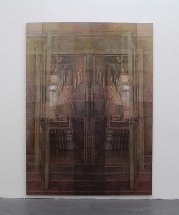 PASSAGEWAYS,2015, oil on 88 pieces of linen, 230 x 168cm