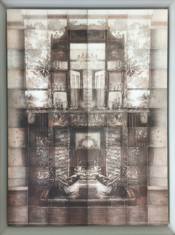 MYRIORAMA ROOM SERIES - FIREPLACE I, 2015. 88 copper plate etchings on 400 gsm Velin Arches, 97 x 110cm