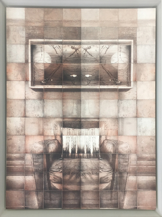 MYRIORAMA ROOM SERIES - ARMCHAIR, 2016, 88 copper plate etchings on 400 gsm Velin Arches, 97 x 110cm, Edition 10